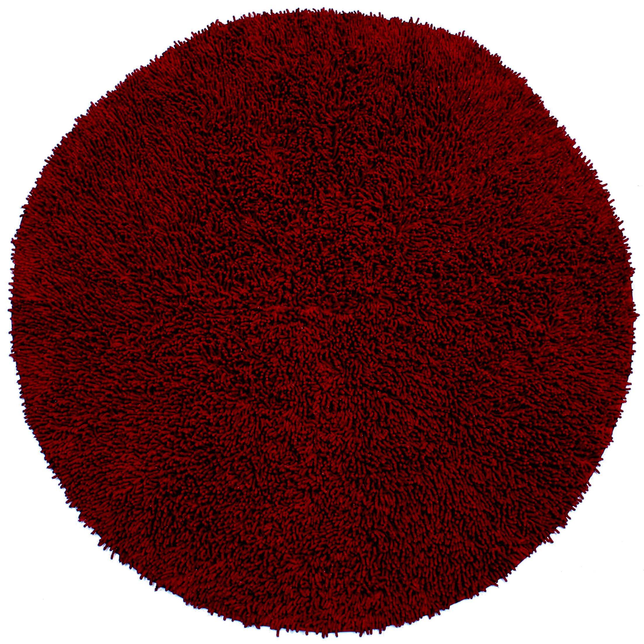 Baugh Burgundy Rug Rug Size: Round 5'