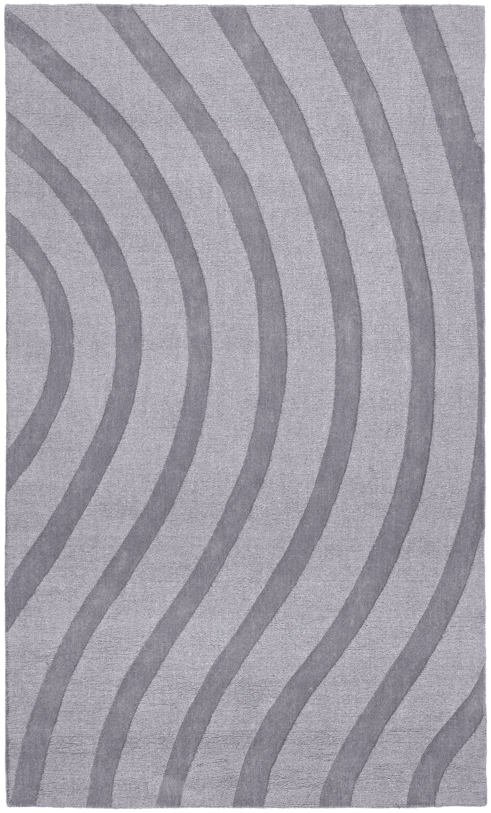 Transitions Light Gray Waves Rug Rug Size: Rectangle 5' x 8'