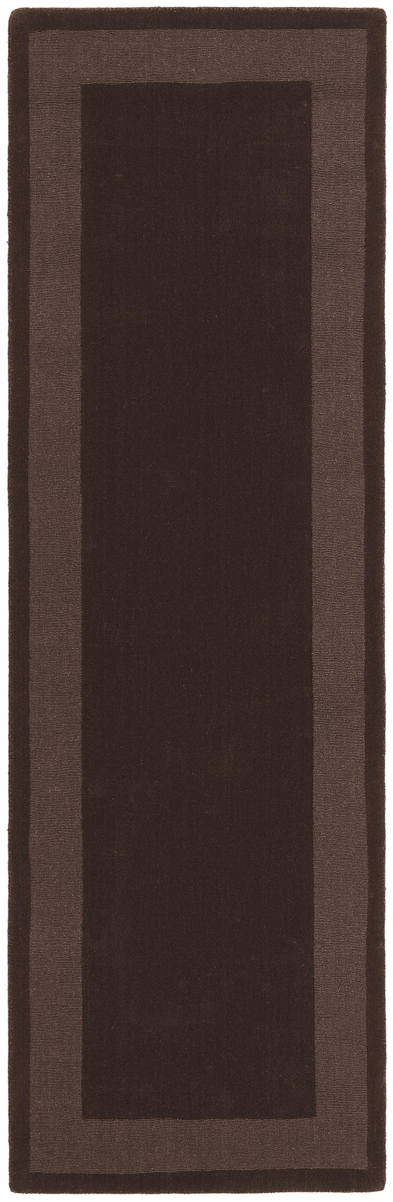 Transitions Chocolate Border Rug Rug Size: Runner 2'6