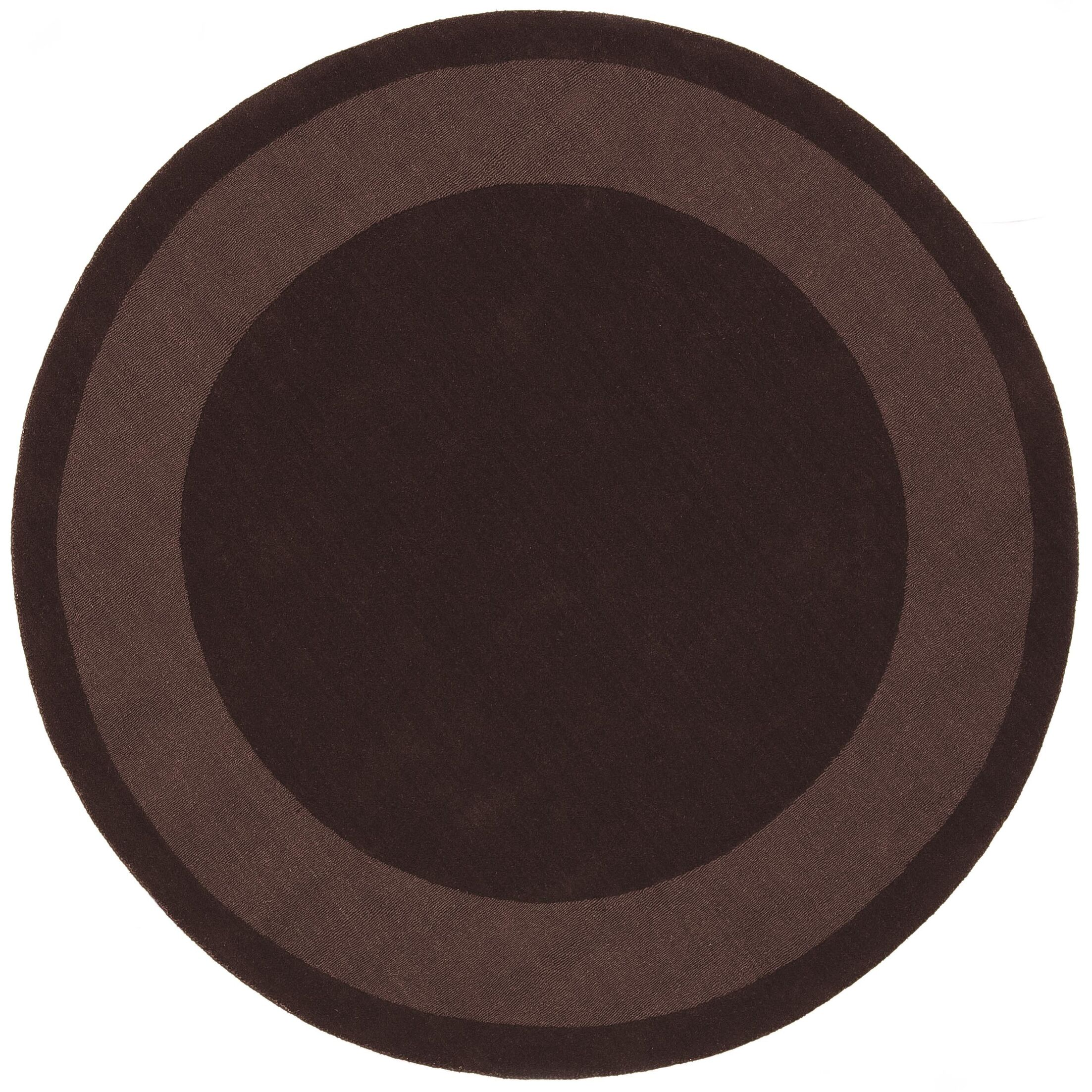 Transitions Chocolate Border Rug Rug Size: Round 6'