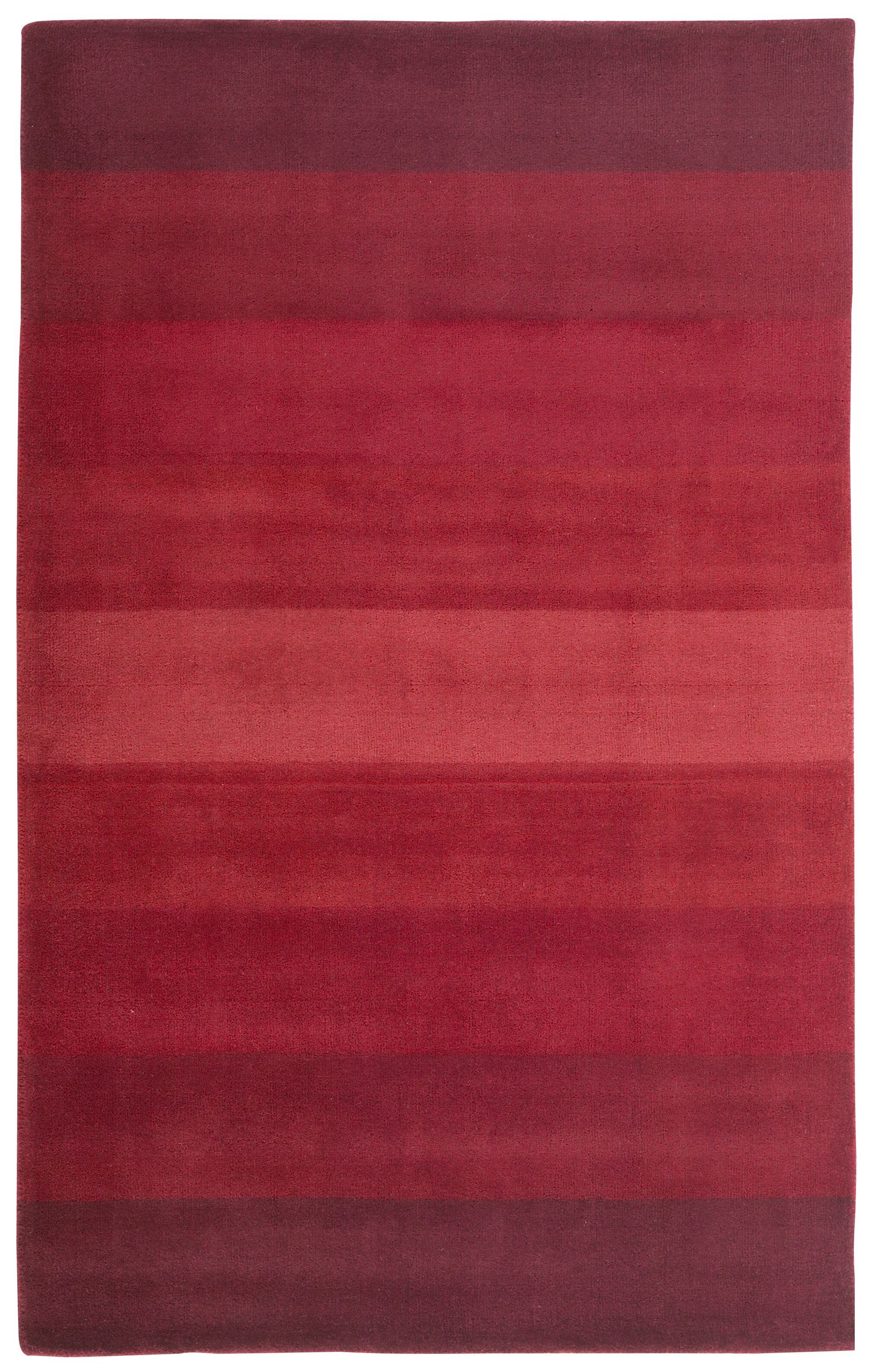 Degarmo Red Stripes Area Rug Rug Size: 4' x 6'