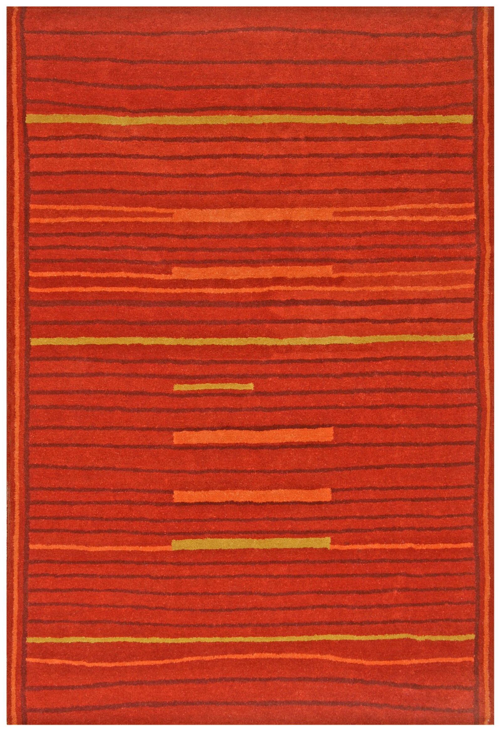 Structure Rust Rug Rug Size: Rectangle 4' x 6'