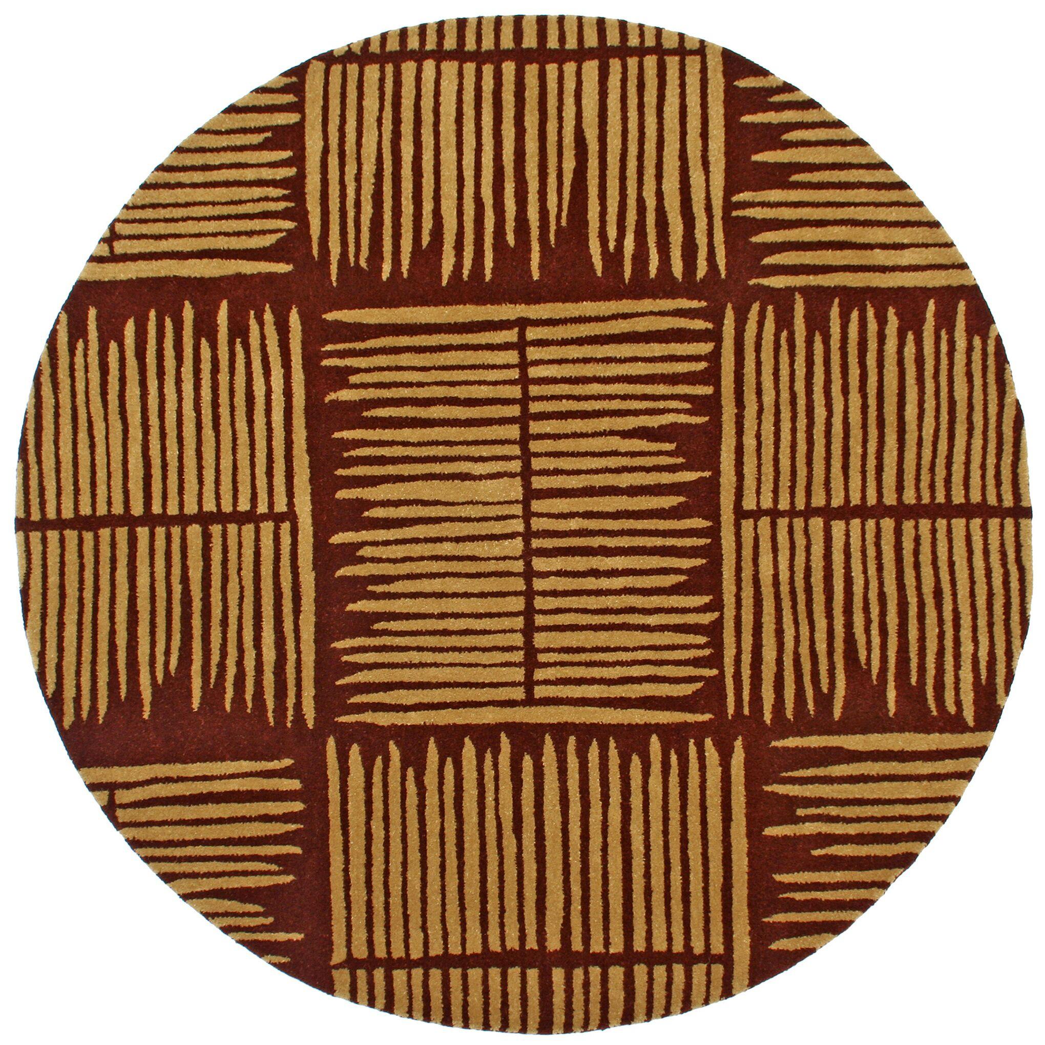 Structure Thatch Burgundy Rug Rug Size: Round 8'