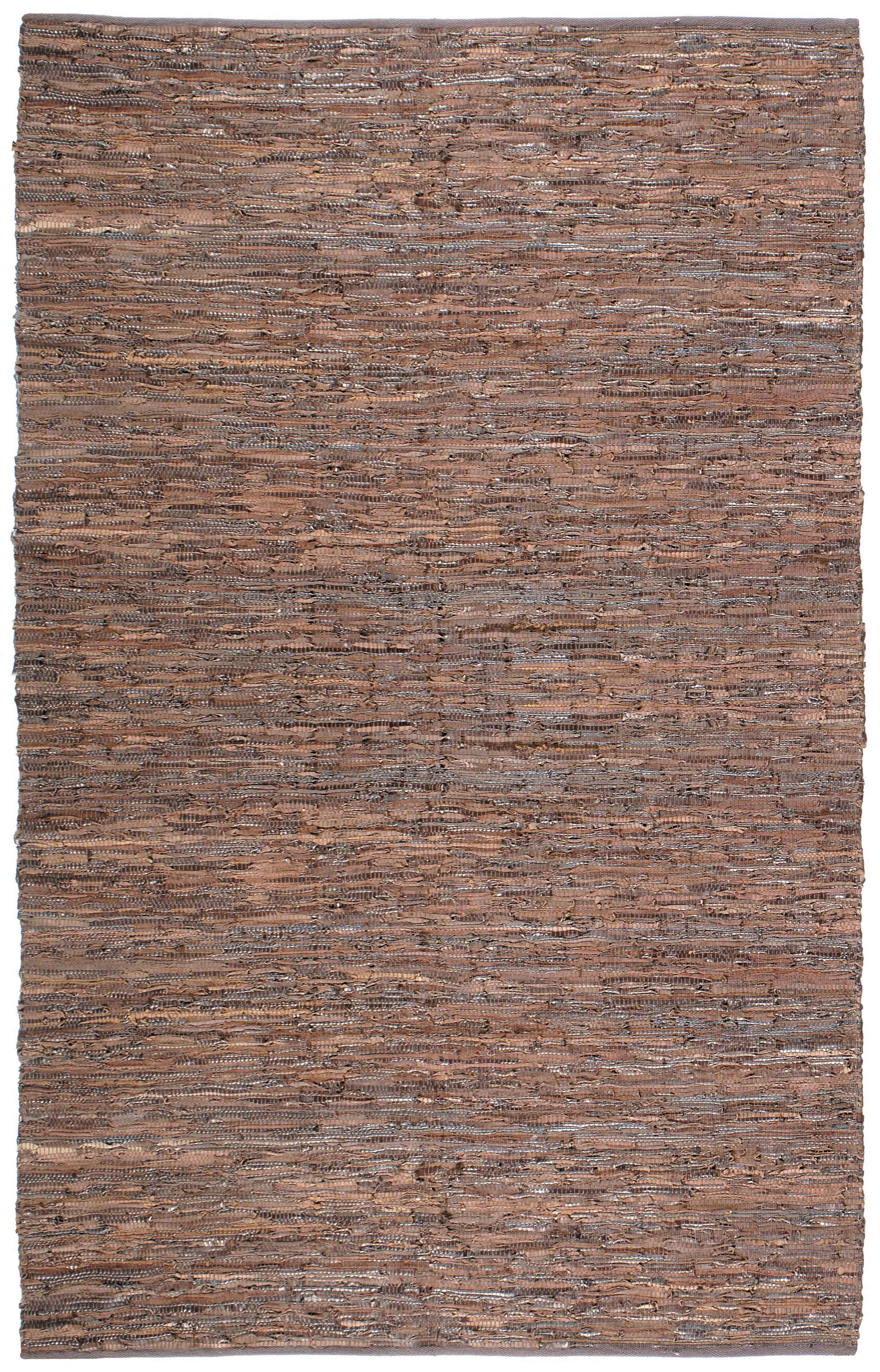 Sandford Chindi Hand Woven Cotton Brown Area Rug Rug Size: 5' x 8'