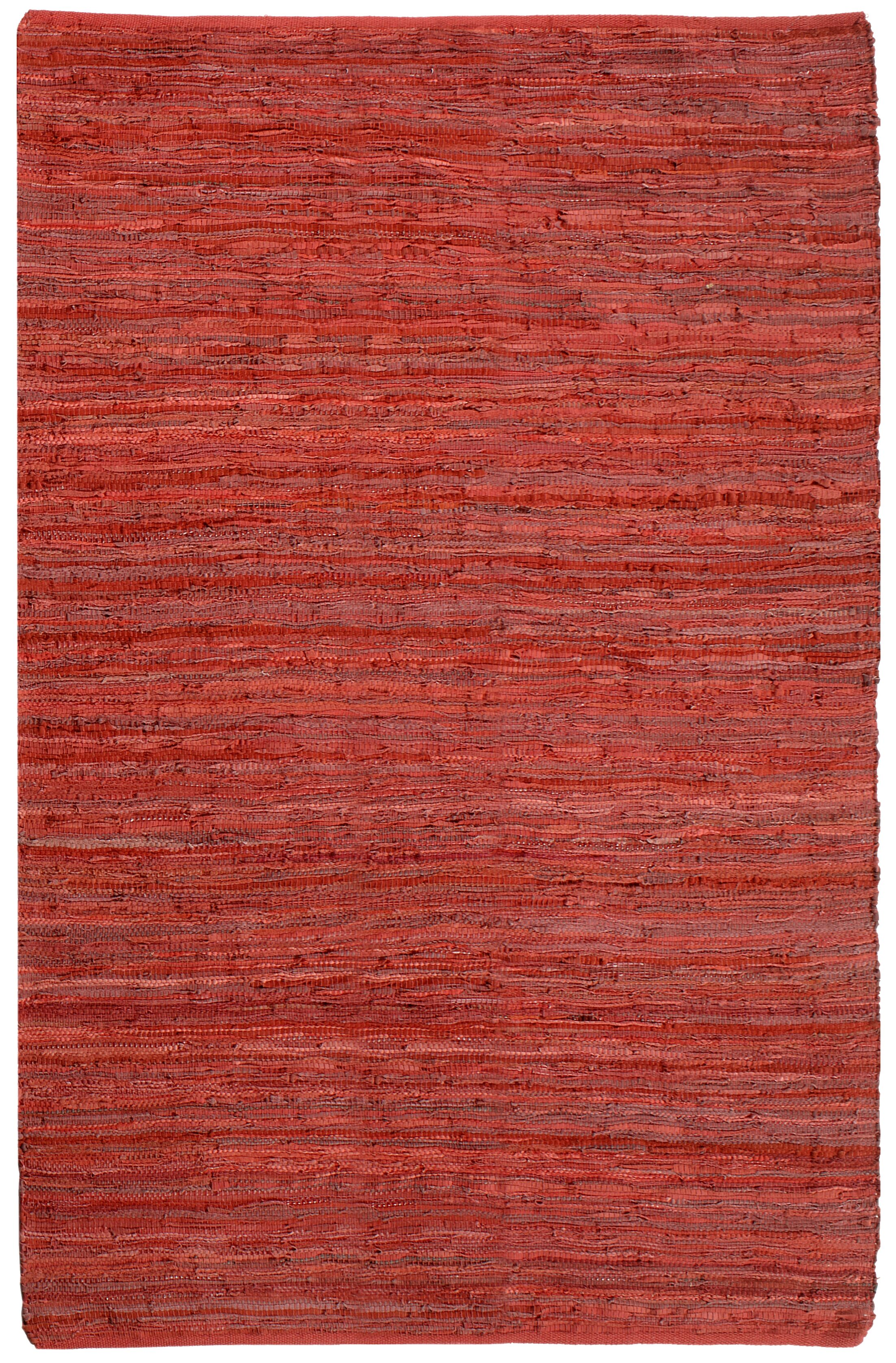 Sandford Chindi Hand Woven Cotton Red Area Rug Rug Size: 4' x 6'