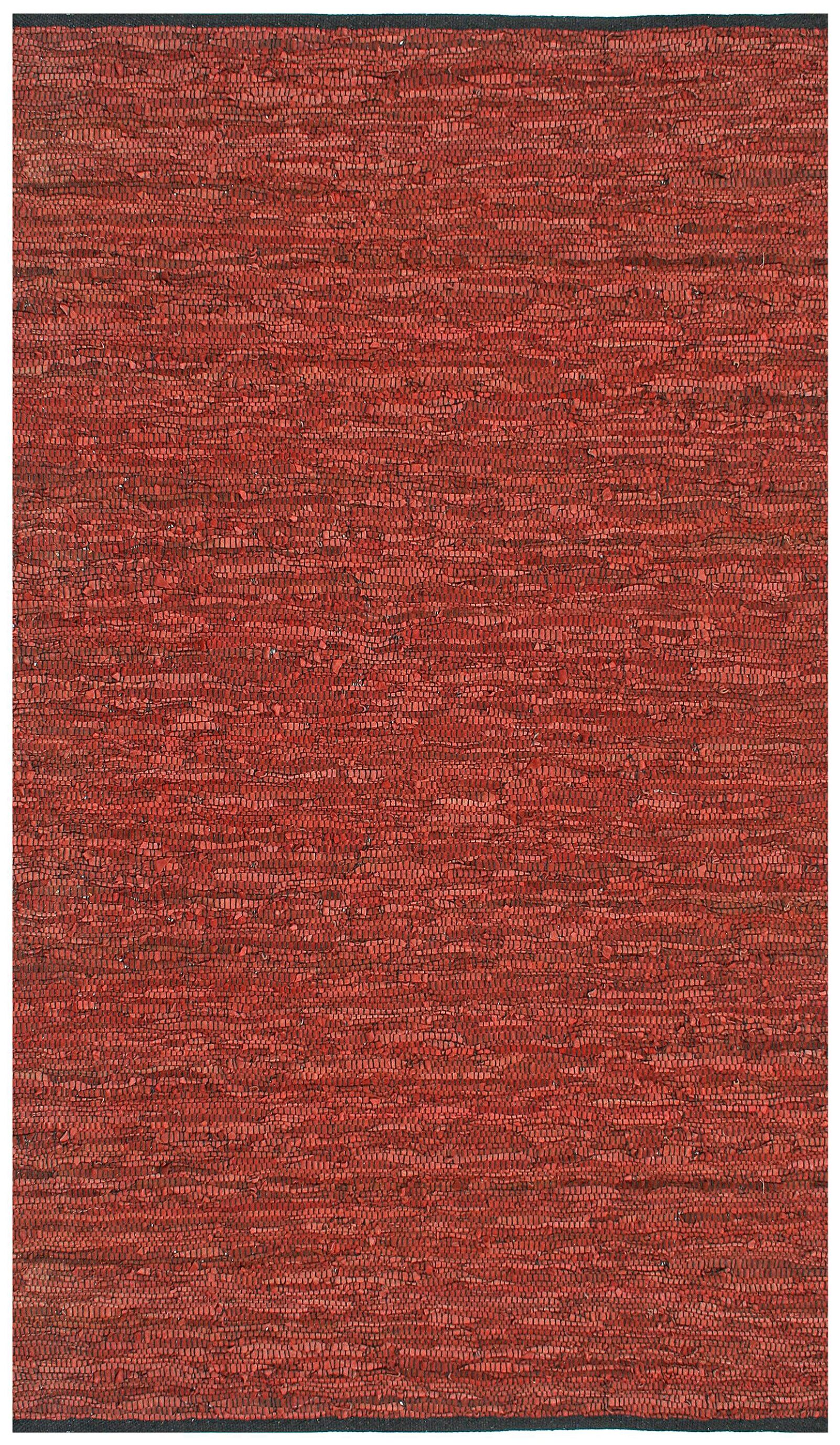 Sandford Leather Chindi Copper Area Rug Rug Size: 5' x 8'