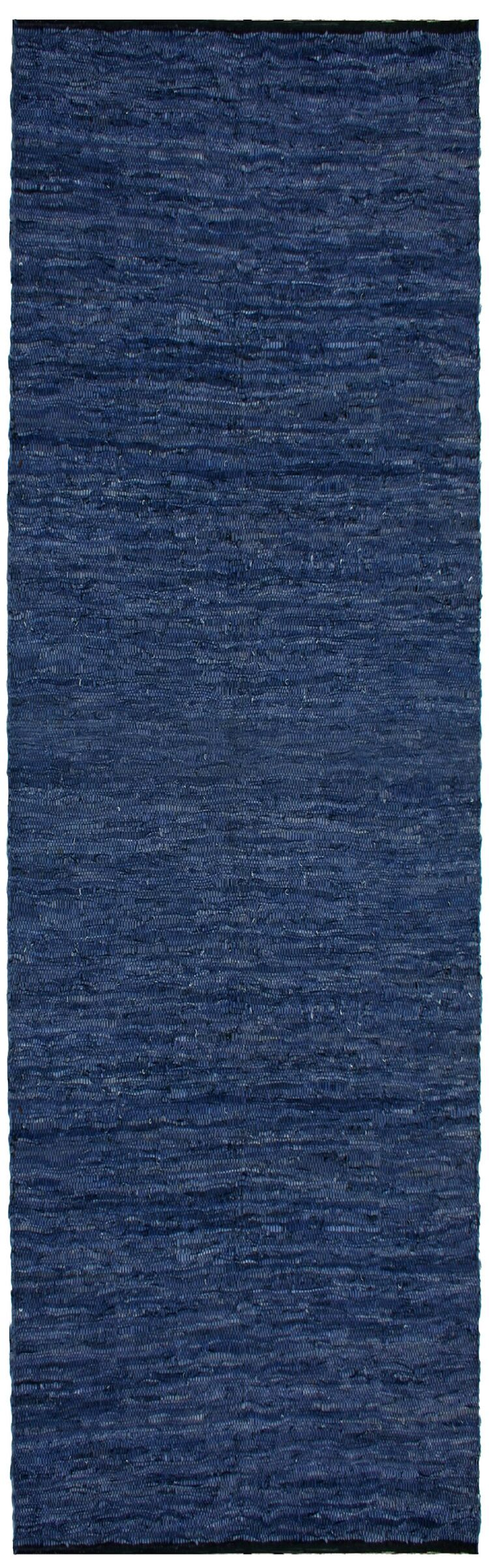 Sandford Chindi Hand Woven Cotton Blue Area Rug Rug Size: Runner 2'6
