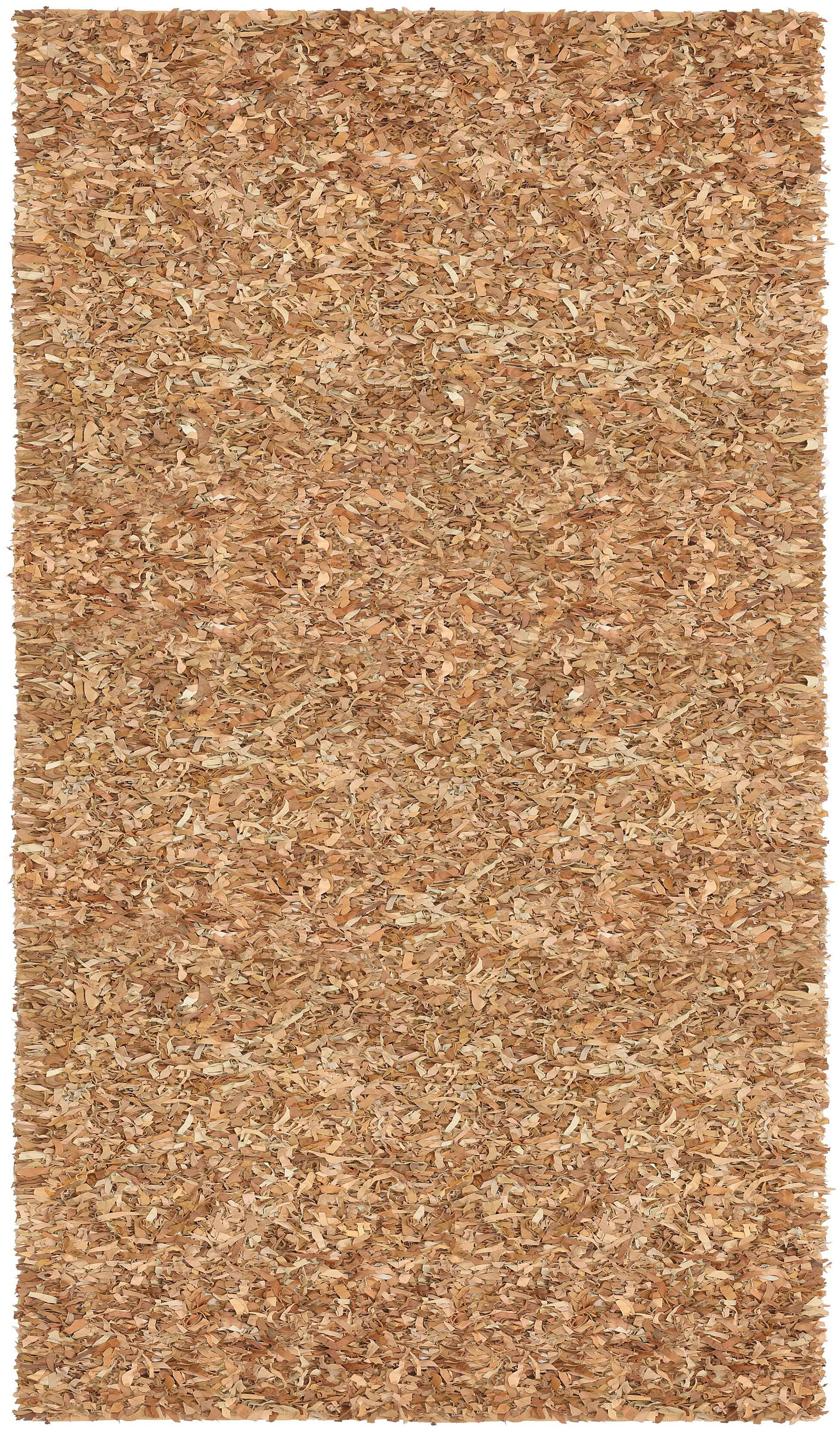 Baum Leather Tan Area Rug Rug Size: Rectangle 5' x 8'