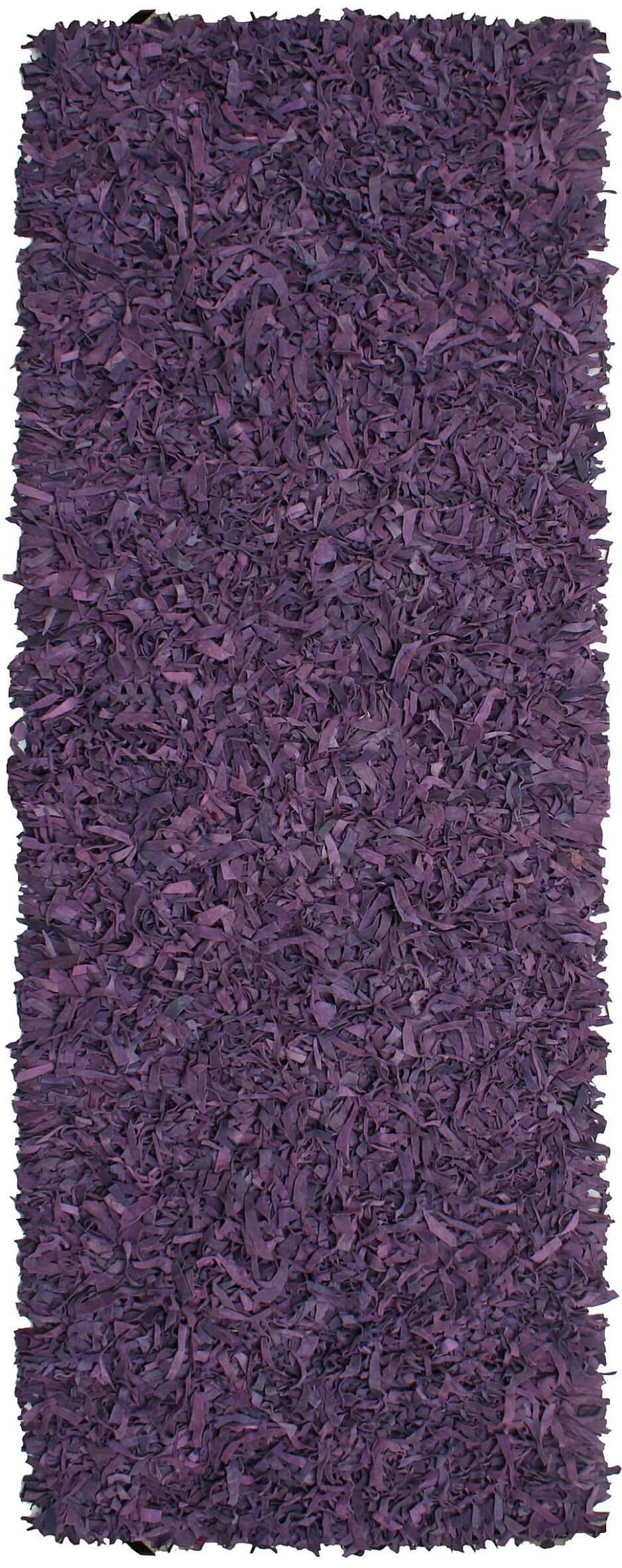 Baum Leather Purple Area Rug Rug Size: Runner 2'6