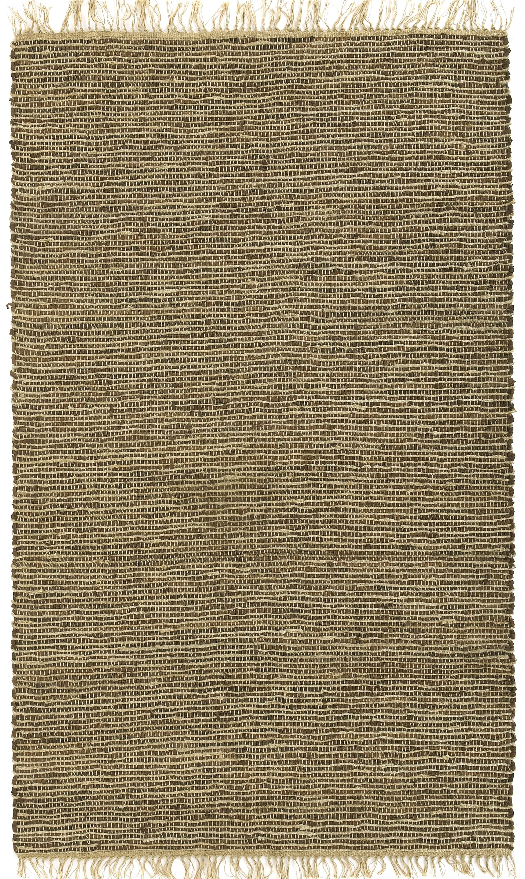 Matador Leather/Natural Hemp Brown Area Rug Rug Size: 10' x 14'