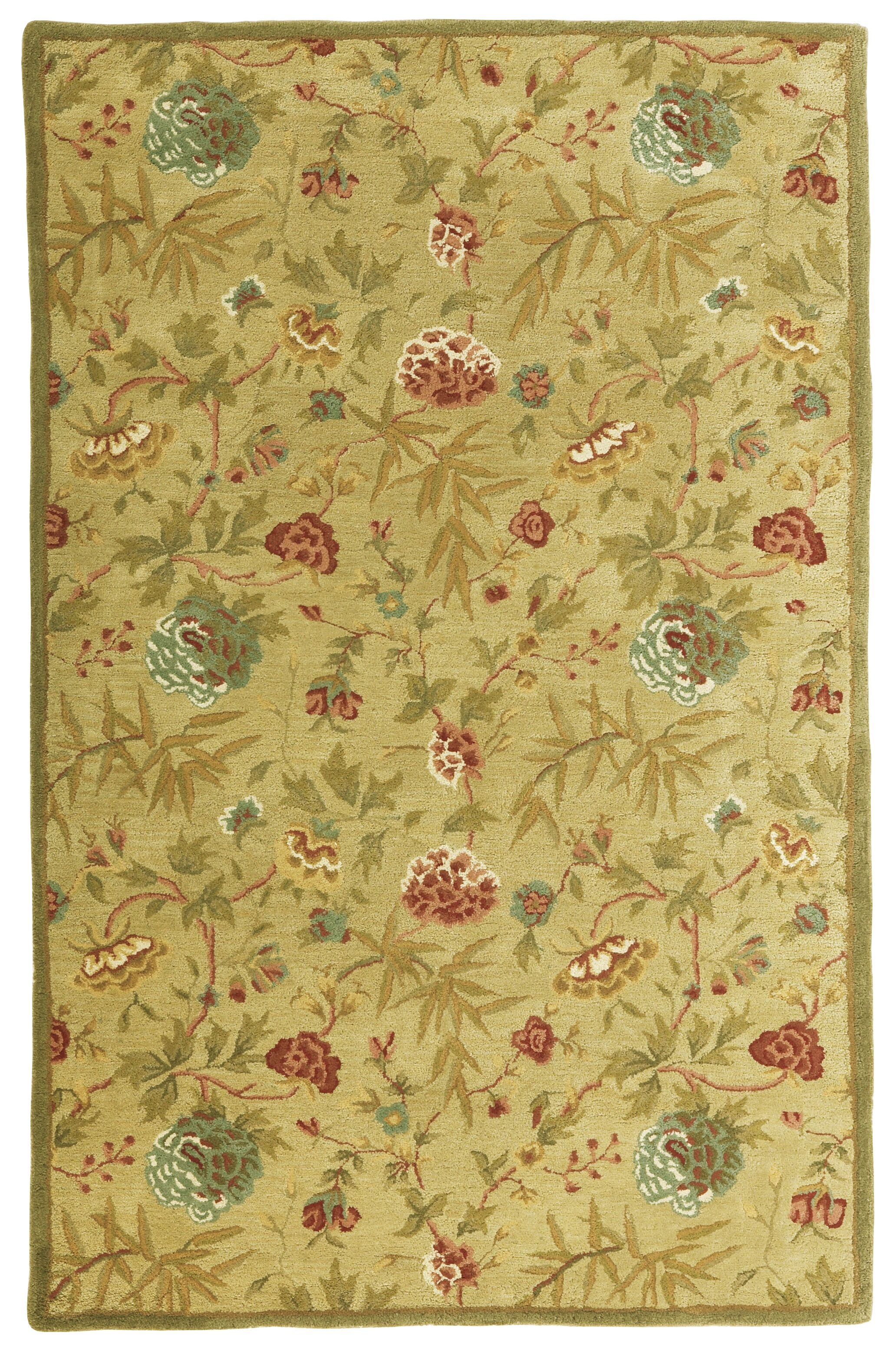 Traditions Gold Rug Rug Size: Rectangle 5' x 8'