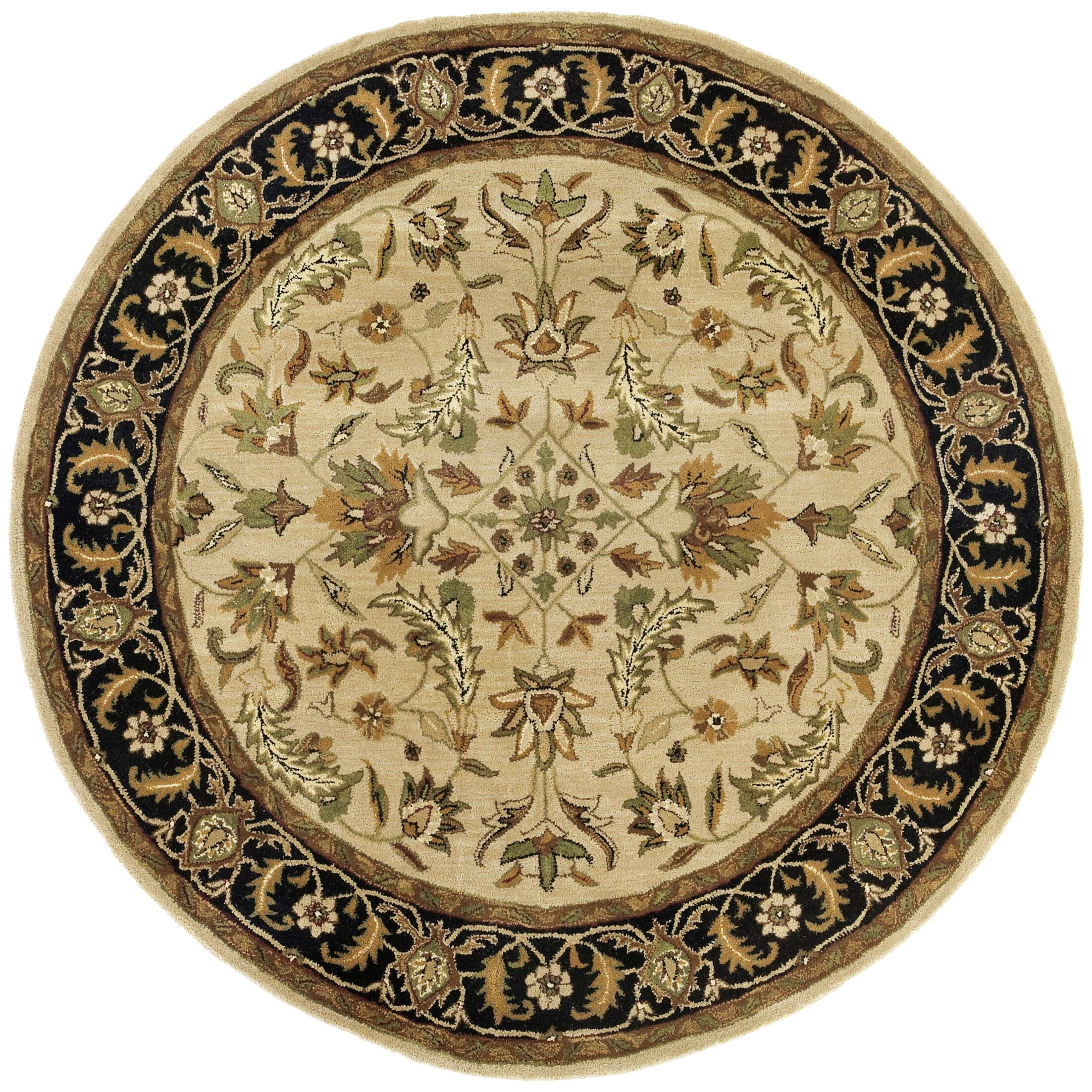 Traditions Patina Tan Rug Rug Size: Round 8'