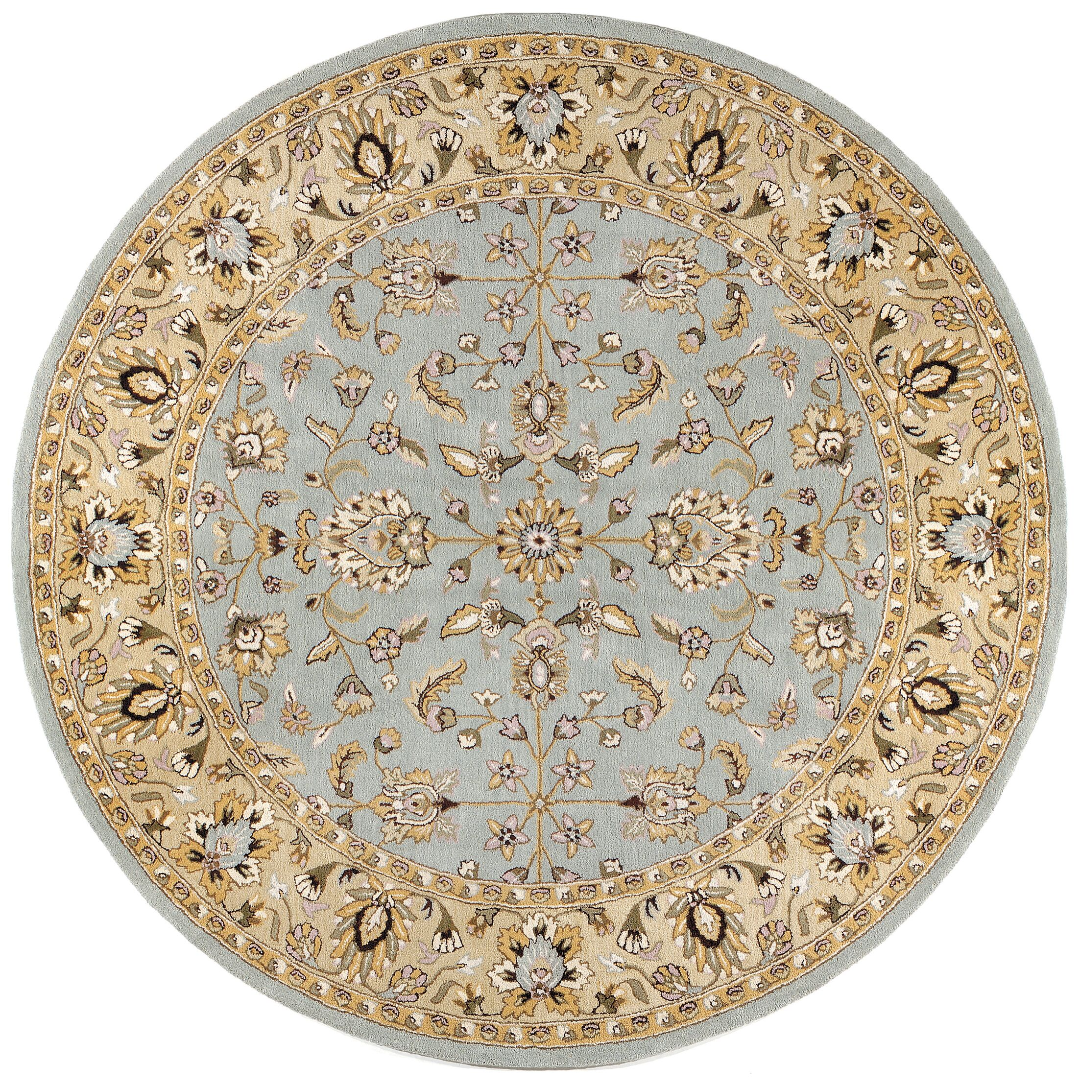Traditions Waterford Sea Foam Rug Rug Size: Round 6'