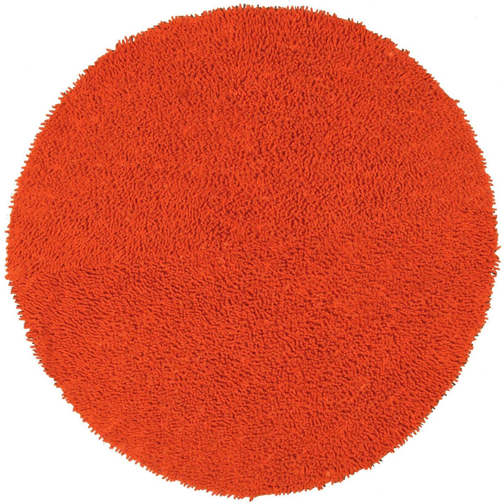Baugh Orange Area Rug Rug Size: Square 2' x 2'