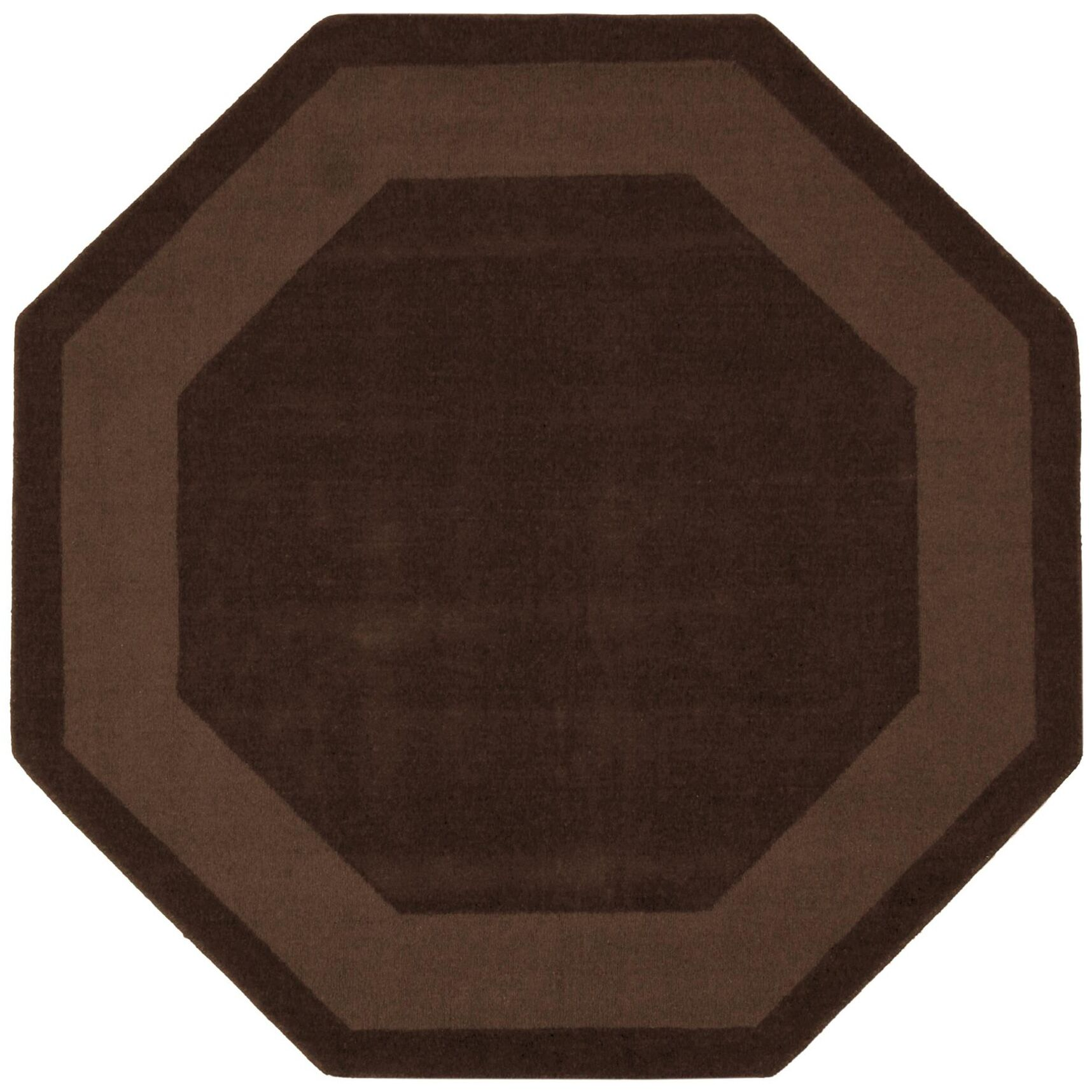 Transitions Chocolate Border Rug Rug Size: Octagon 6'