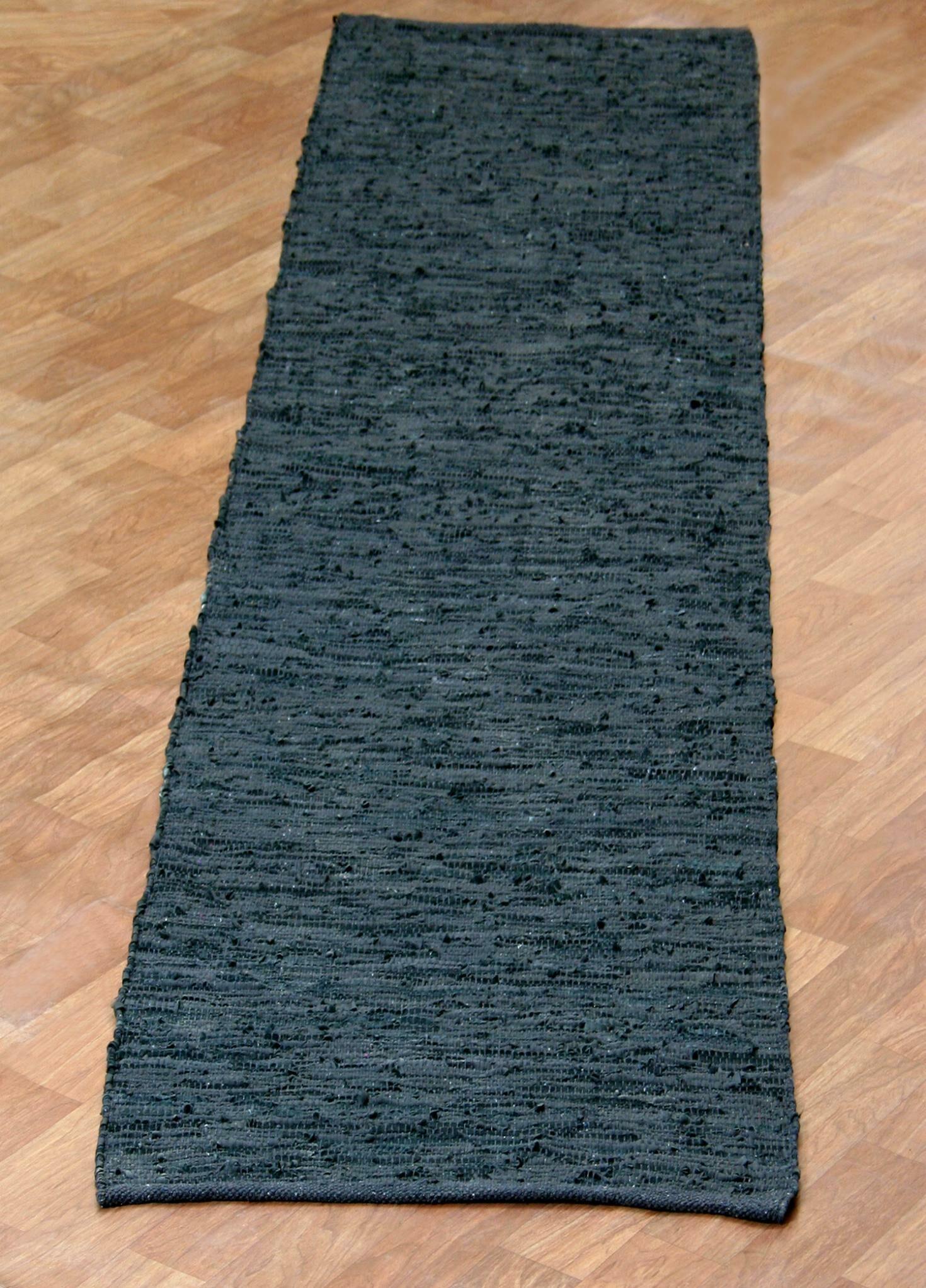 Matador Hand-Loomed Black Area Rug Rug Size: Runner 2'6