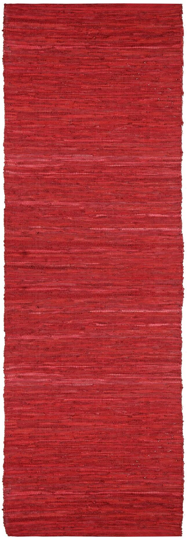 Sandford Chindi Hand Woven Cotton Red Area Rug Rug Size: Runner 2'5
