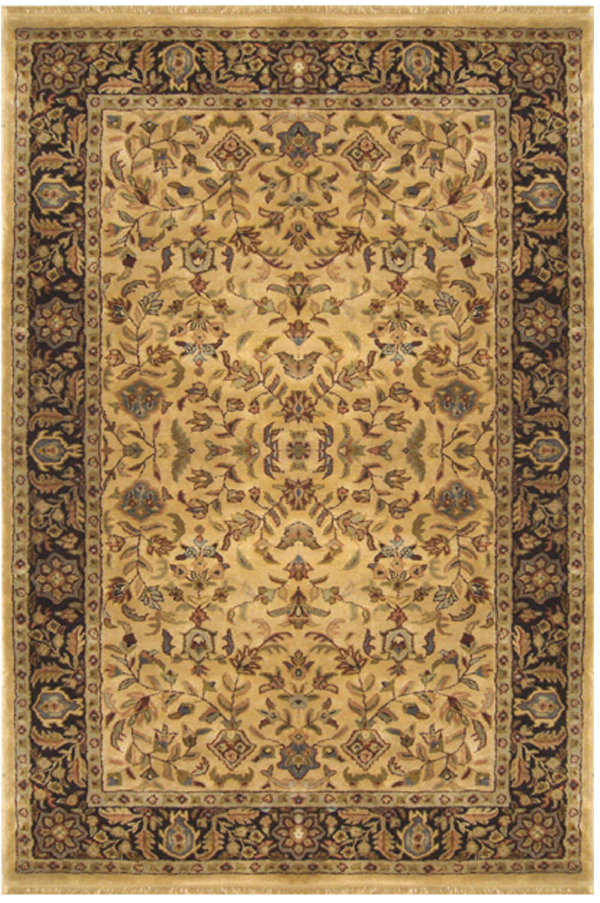 Tabriz Hand-Tufted Area Rug Rug Size: Round 8'