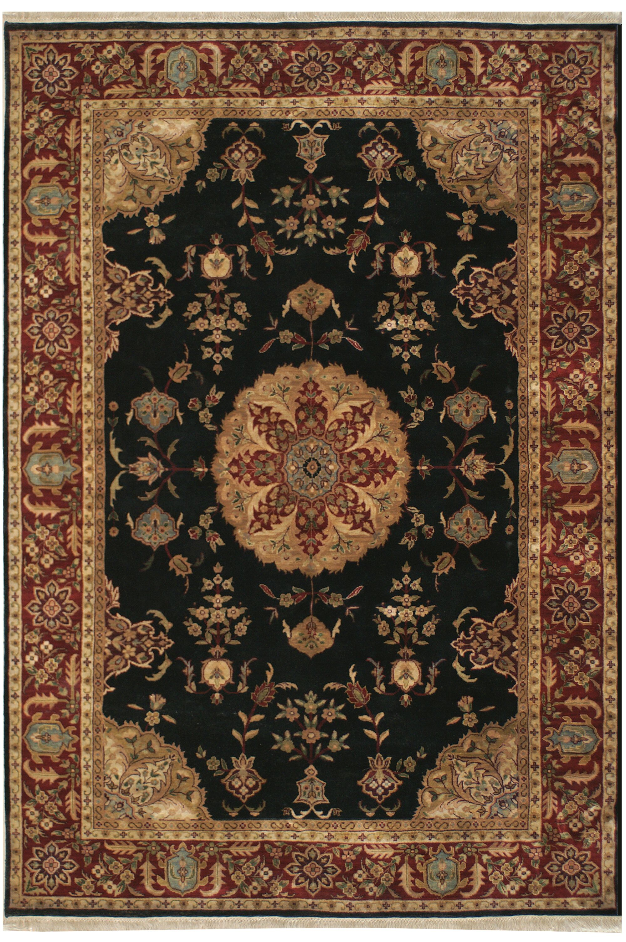Tabriz Hand-Tufted Area Rug Rug Size: Round 5'