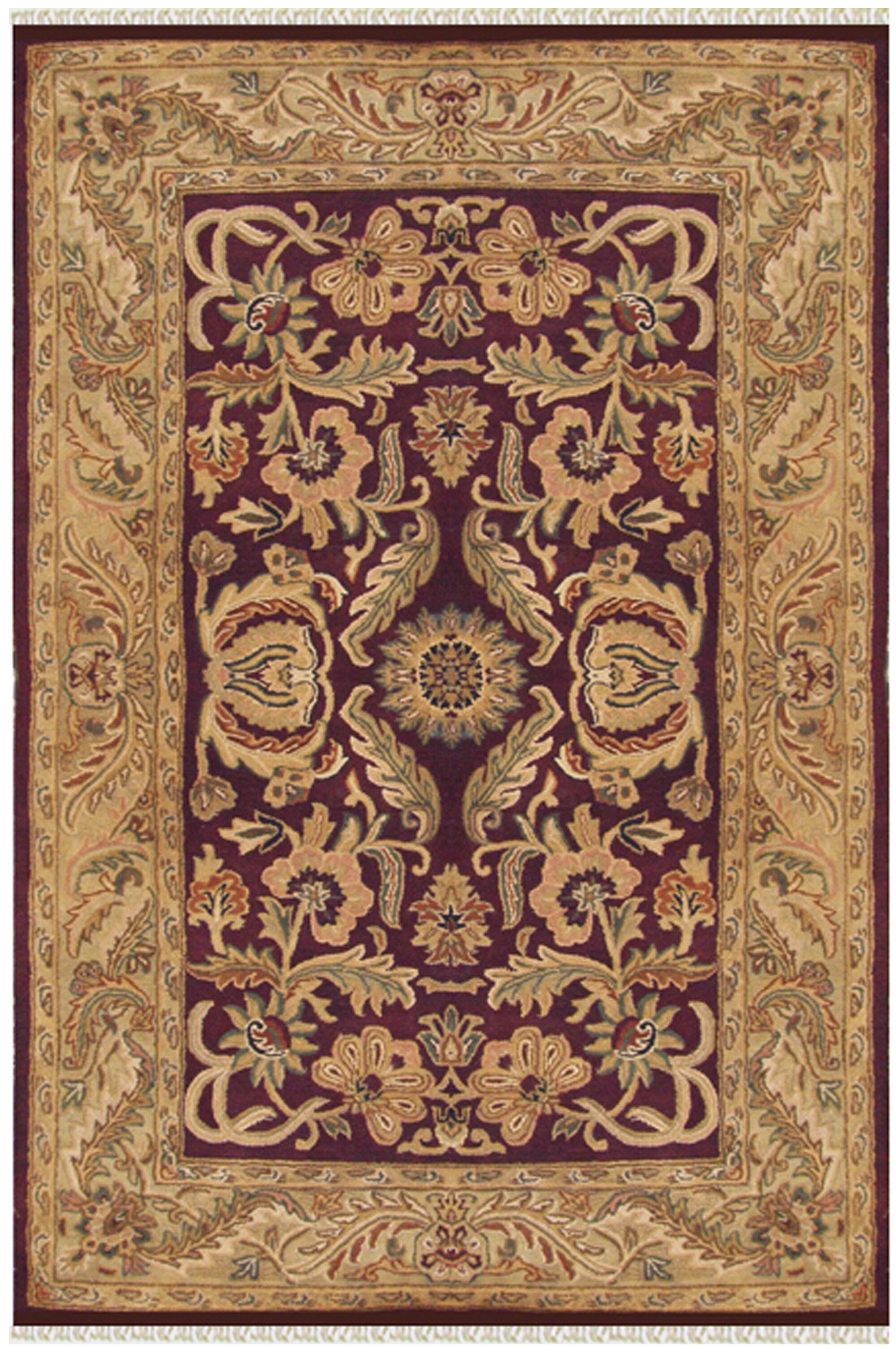 Agra Hand-Tufted Area Rug Rug Size: 9'6