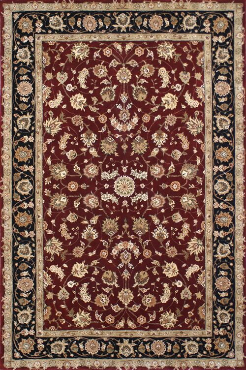 Hand-Tufted Burgundy/Red Area Rug Rug Size: Rectangle 12' x 15'