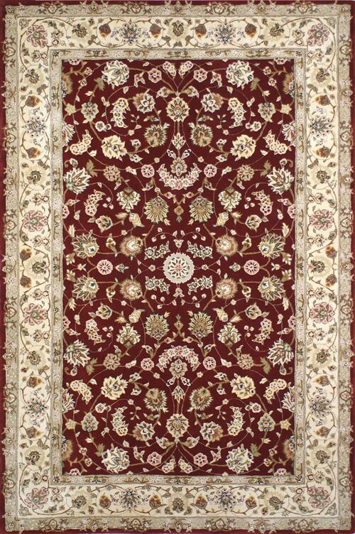 Hand-Tufted Burgundy/Red Area Rug Rug Size: Rectangle 14' x 24'