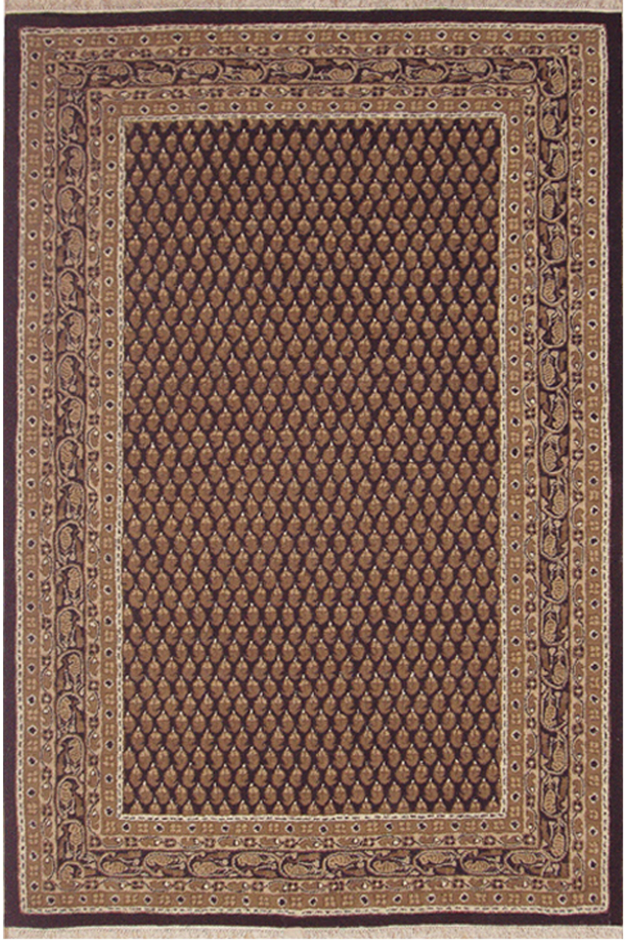 American Home Classic Mir Black/Gold Area Rug Rug Size: 2' x 4'