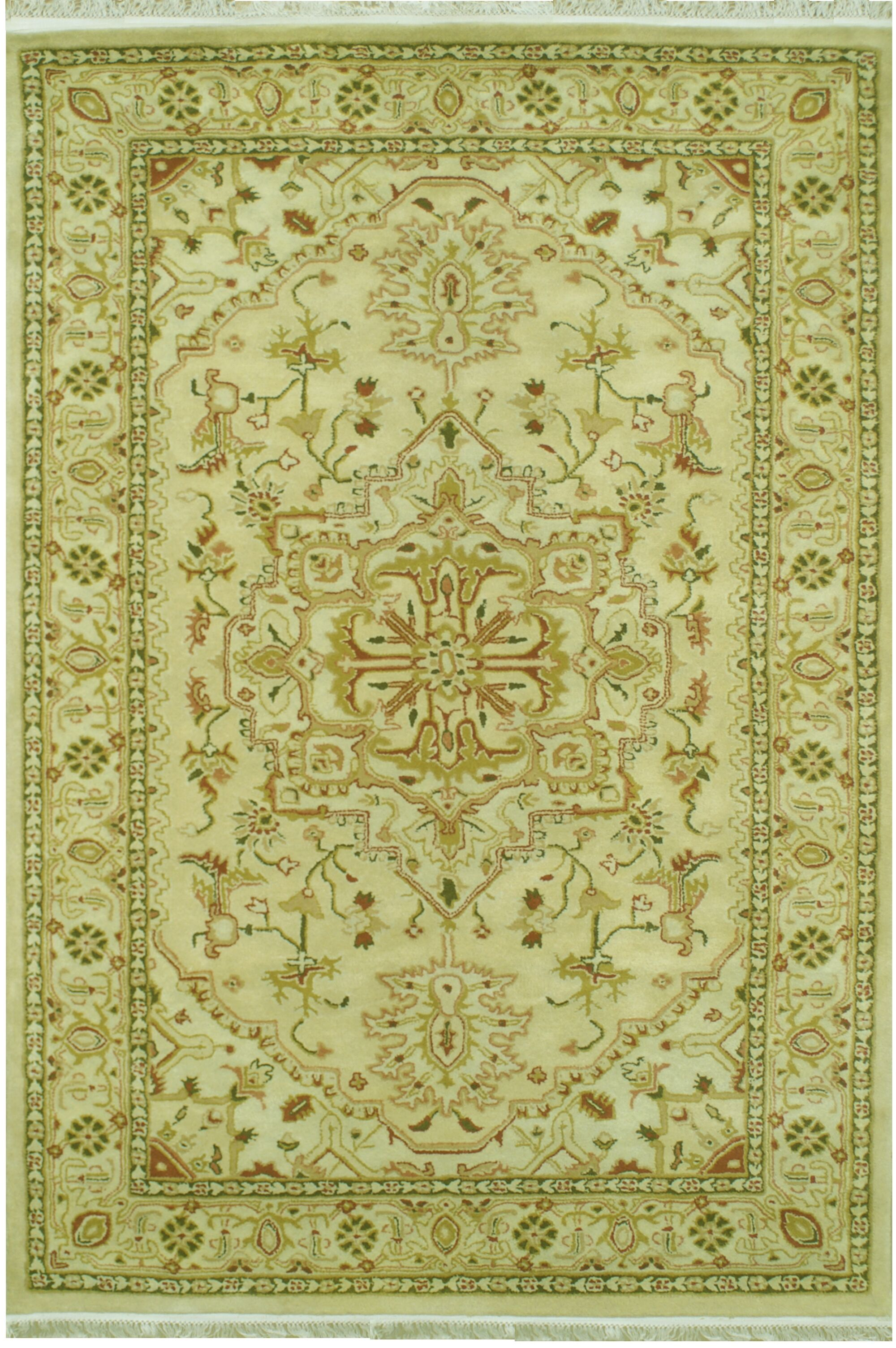 American Home Classic Serapi Gold/Ivory Area Rug Rug Size: Runner 2'6