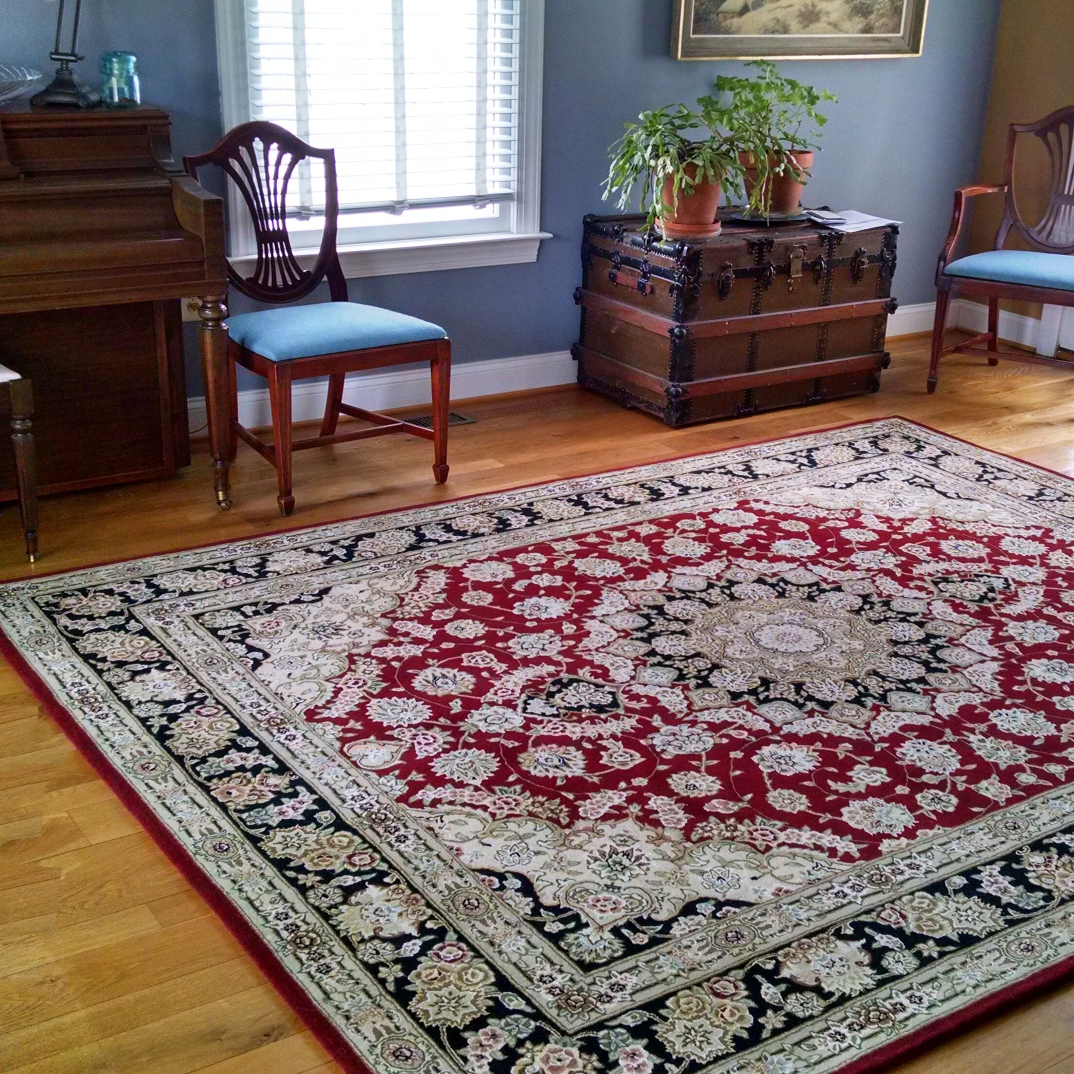 Hand-Tufted Burgundy/Red Area Rug Rug Size: Rectangle 3'6