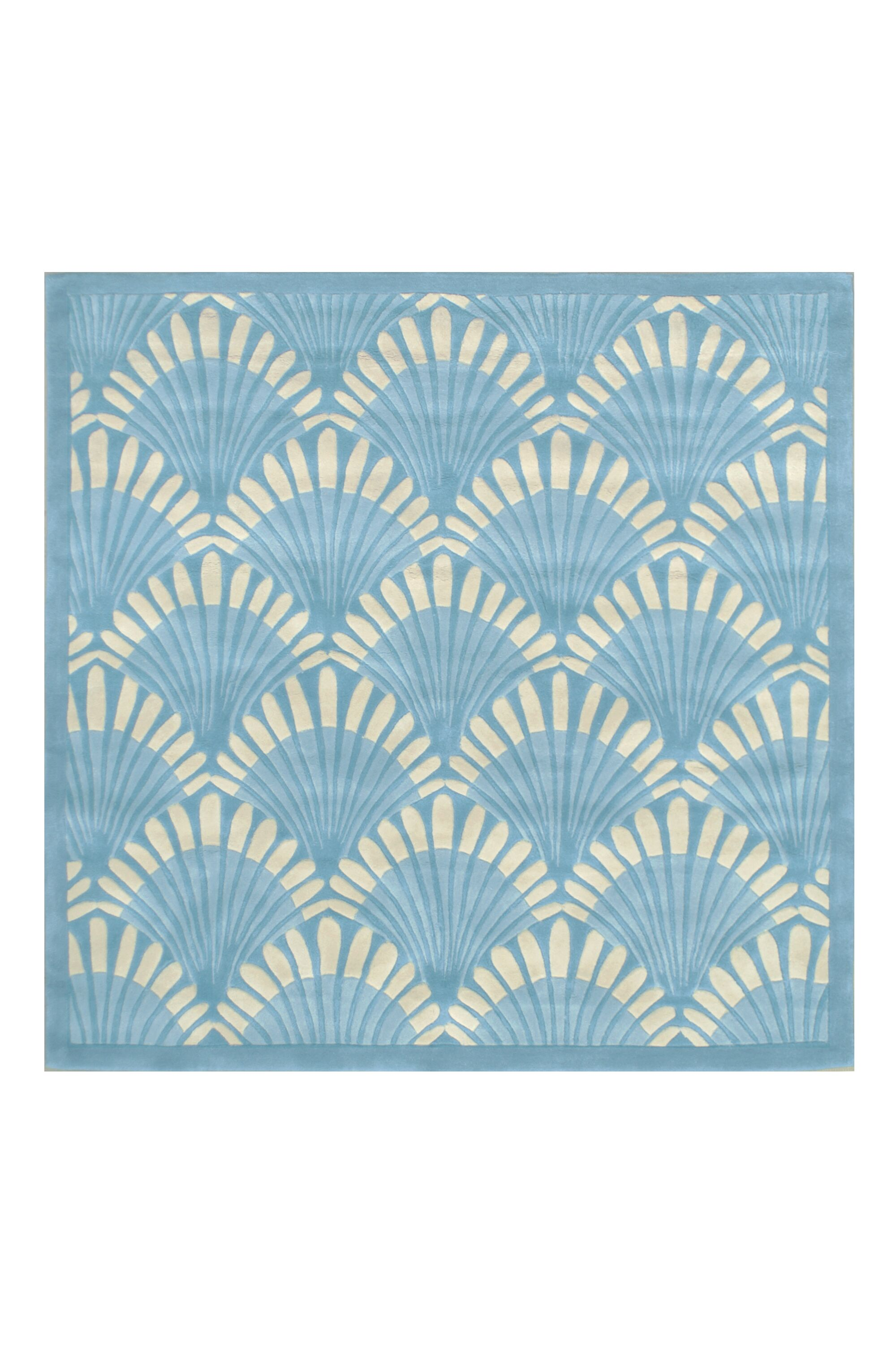 Aalin Hand-Tufted Blue Area Rug