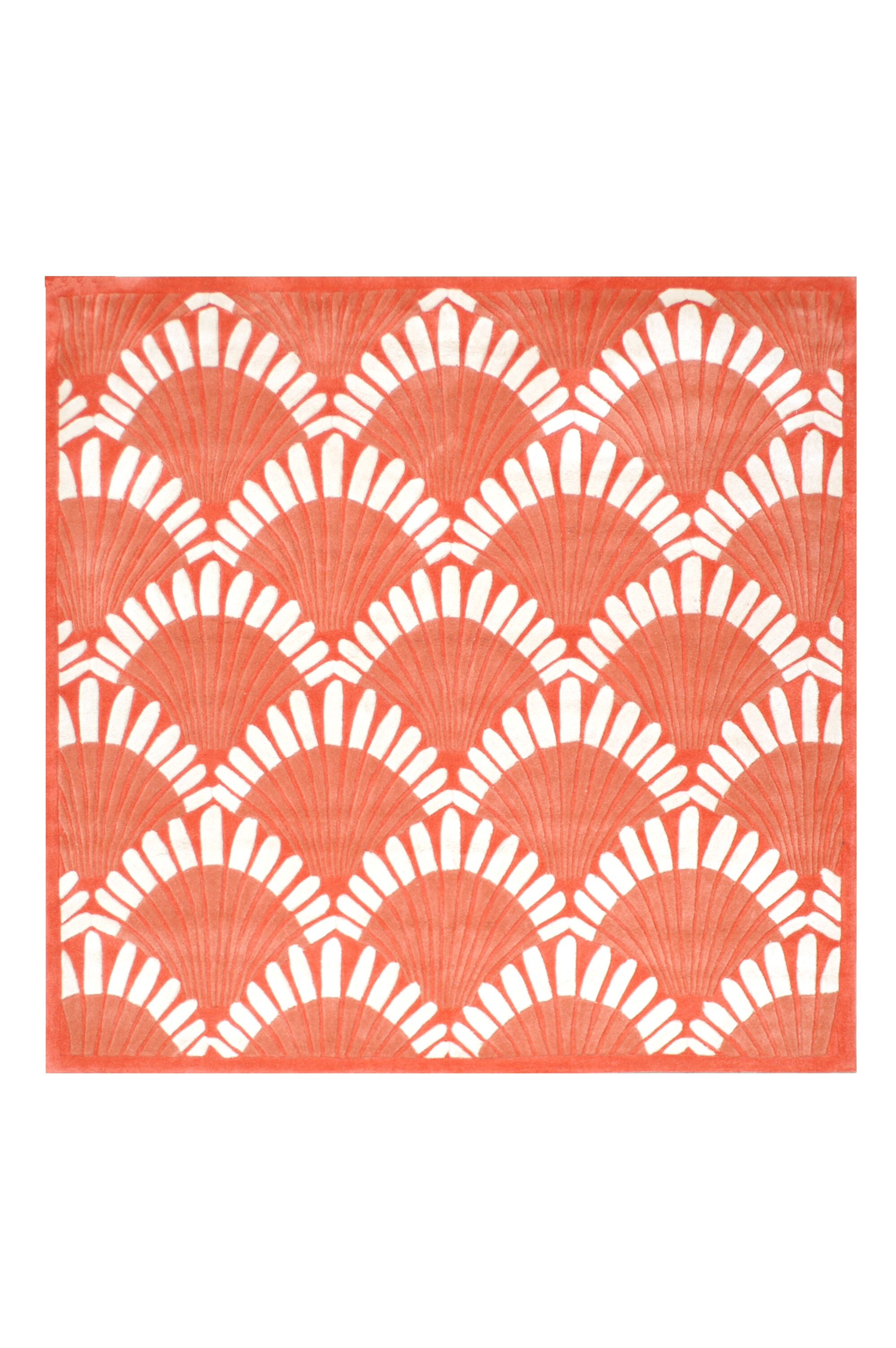 Aalin Hand-Tufted Orange Area Rug