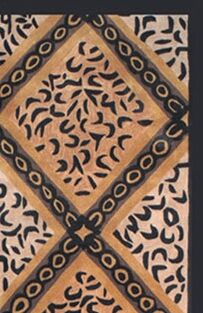 African Safari Skins/Black Imperial Safari Animal Area Rug Rug Size: 5' x 8'