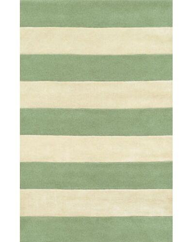 Beach Seafoam/Ivory Boardwalk Stripes Area Rug Rug Size: Runner 2'6