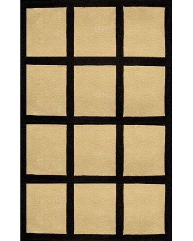 Bright Sand/Black Window Blocks Area Rug Rug Size: 8' x 11'