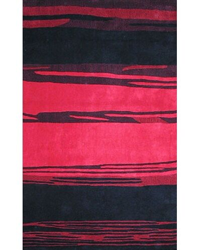 Bright Horizon Pink/Black Area Rug Rug Size: Rectangle 3'6