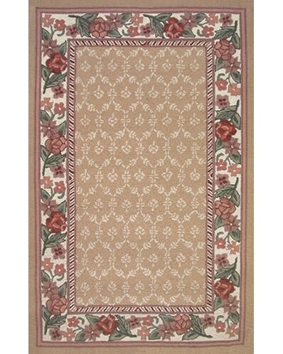 Bucks County Autumn/Ivory Damask Area Rug Rug Size: Runner 2'6