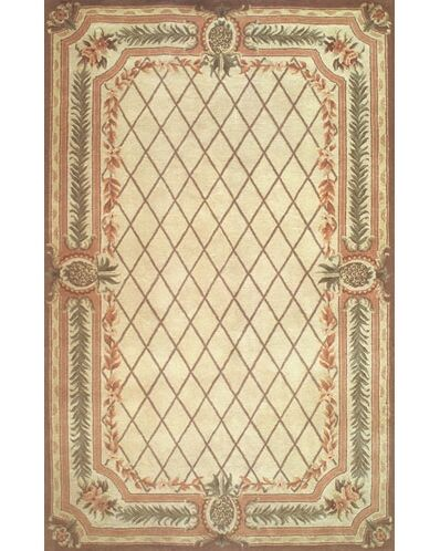 Cape May Beige / Brown Area Rug Rug Size: Round 8'