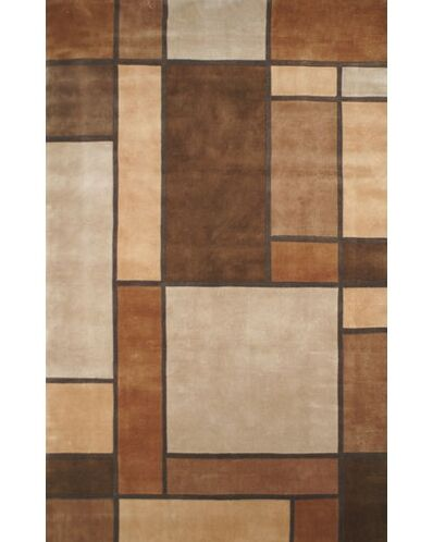 Casual Contemporary Beige / Brown Metro Area Rug Rug Size: 8' x 11'