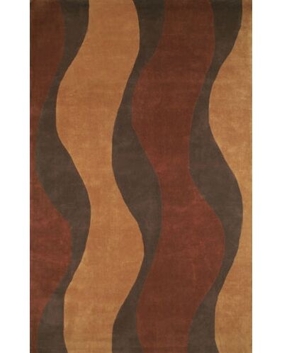 Casual Contemporary Rust / Brown Windsong Area Rug Rug Size: 3'6