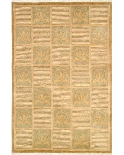 Neo Nepal Floral Stones Beige Area Rug Rug Size: 3'6