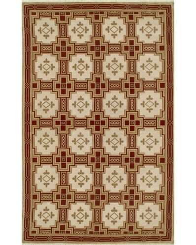 Neo Nepal Empire Gold/Burgundy Area Rug Rug Size: Rectangle 6' x 9'