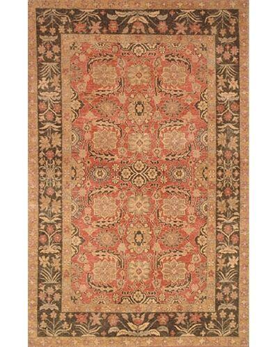 Village Rose/Brown Turkman Area Rug Rug Size: 3'6