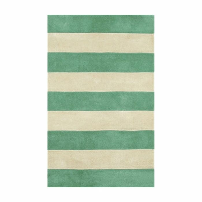 Beach Teal/Ivory Boardwalk Stripes Area Rug Rug Size: Runner 2'6
