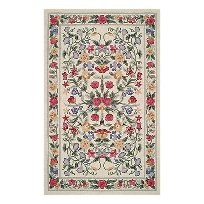 Bucks County Ivory Floral Garden Area Rug Rug Size: Rectangle 3'9