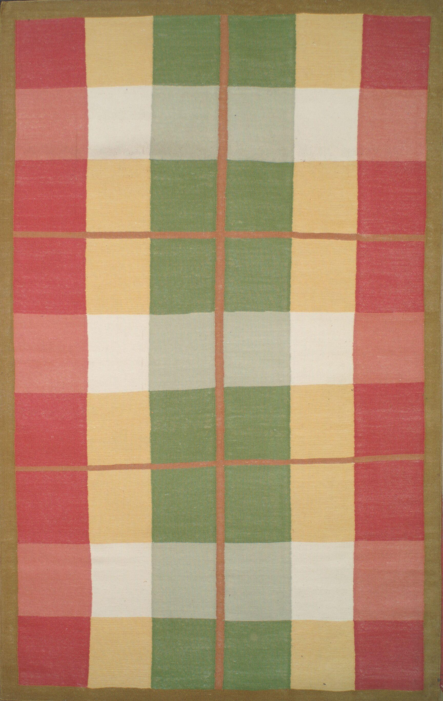 Cottage Kilim Plaid Morning Rug Rug Size: Rectangle 8' x 11'