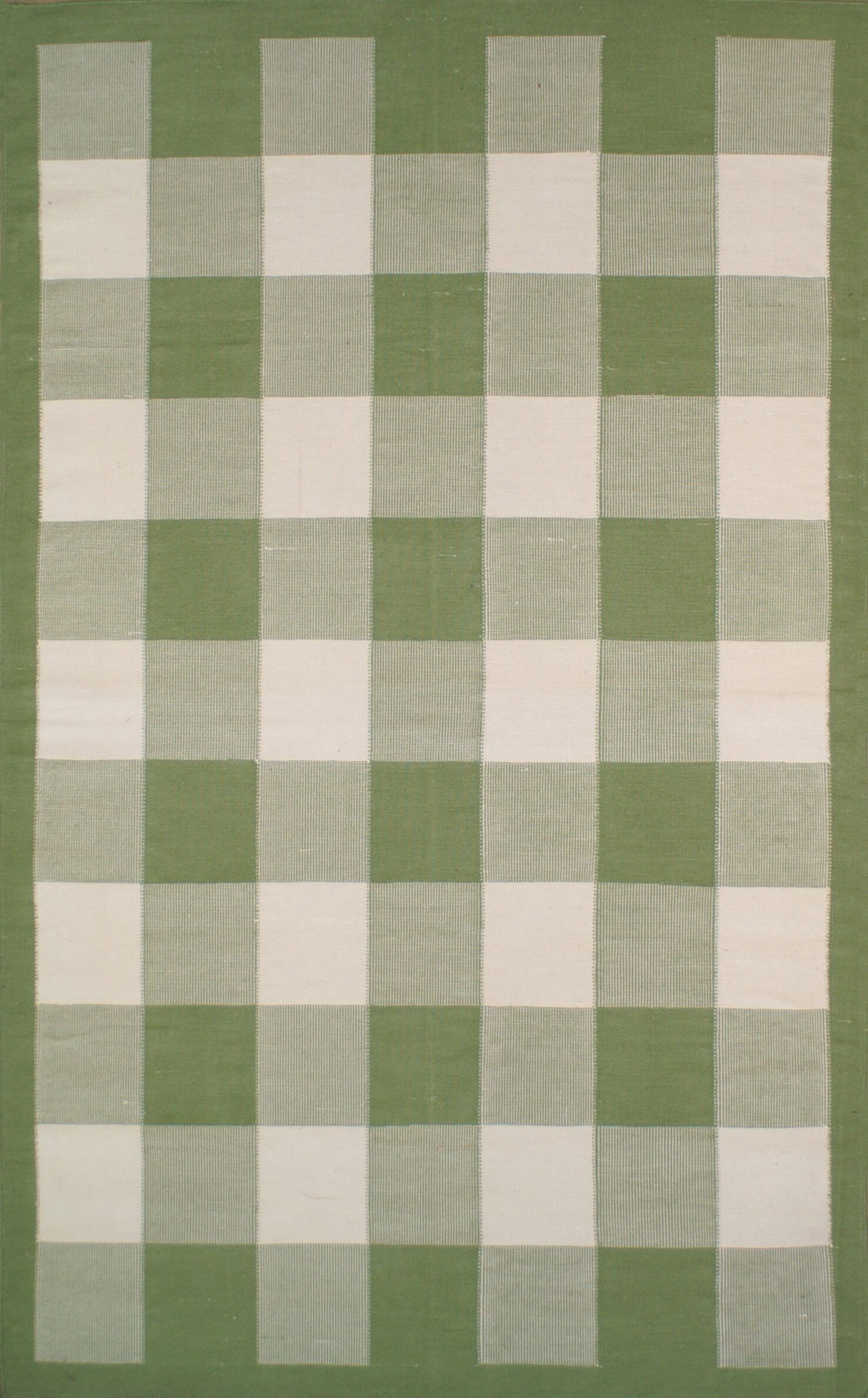 Cottage Kilim Sage Elegant Check Area Rug Rug Size: Square 8'