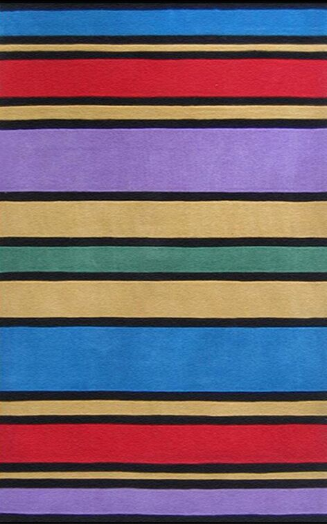 Kiddie Comic Book Stripes Area Rug Rug Size: Rectangle 3'6