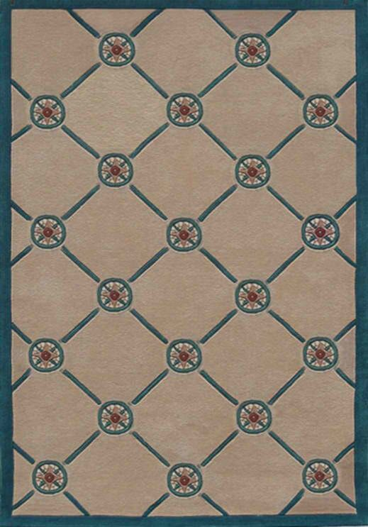 Beach Rug Ivory/Teal Compass Novelty Rug Rug Size: 5' x 8'