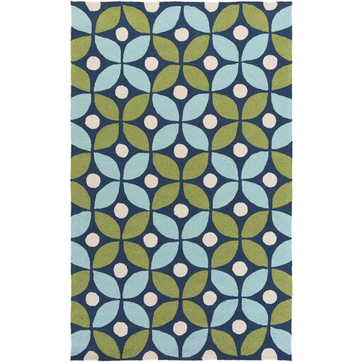 Miranda Green/Aqua Indoor/Outdoor Area Rug Rug Size: Rectangle 4' x 6'
