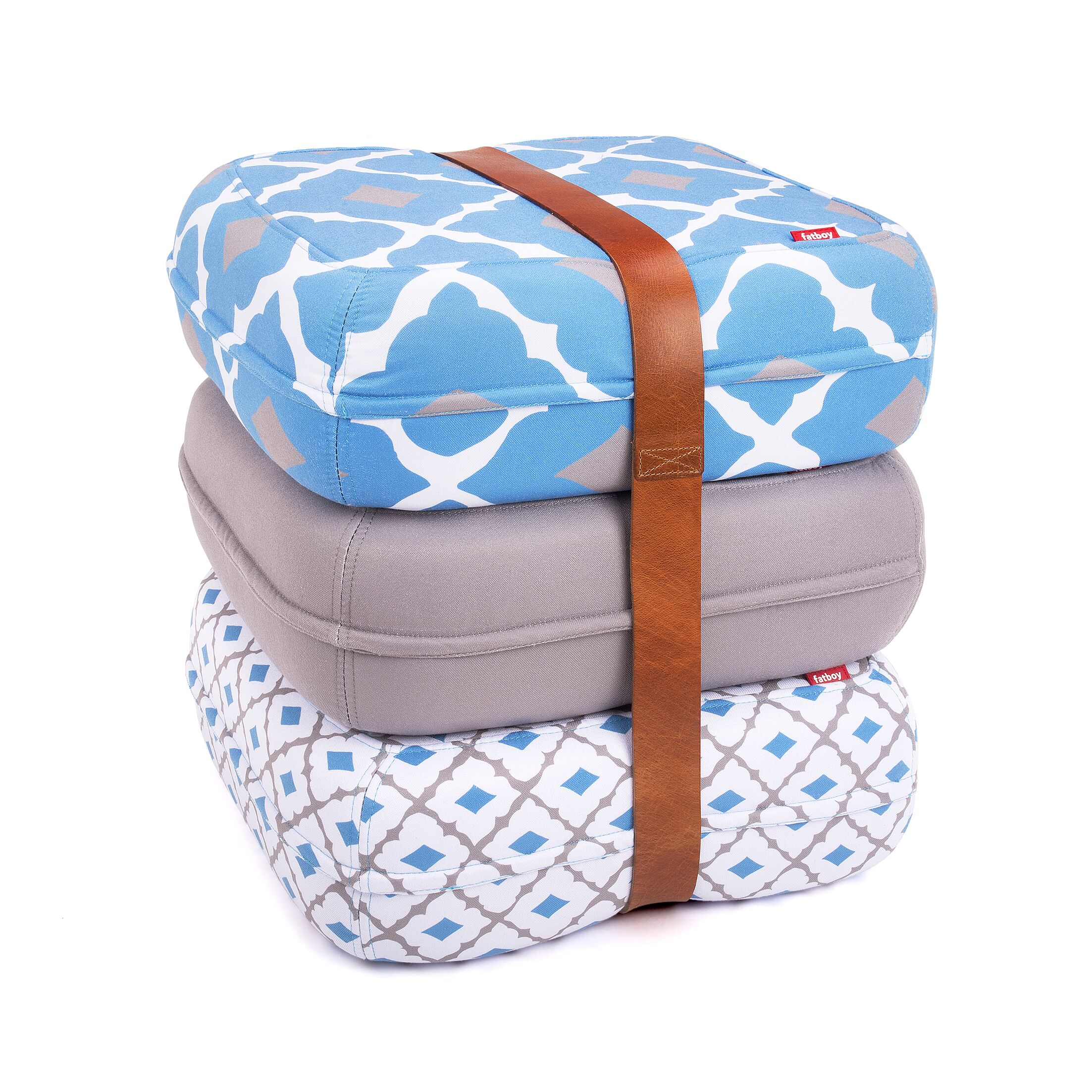 Baboesjka Ottoman Pillow Color: Pessoa Azul